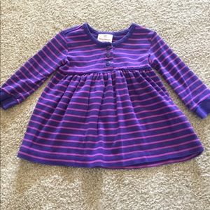 Hanna Andersson Baby Purple and Pink Striped Dress